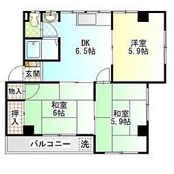 レジデンス香川I[401号室]の間取り