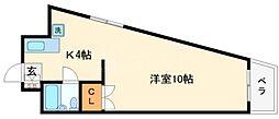 奥内阿波座駅前マンション[6階]の間取り