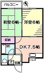 コンフォルト23[1階]の間取り