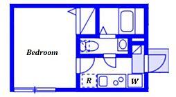 (仮称)ベイルーム藤沢本町2-2号棟 3階1Kの間取り