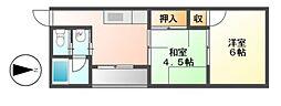 コーポモリ[4階]の間取り