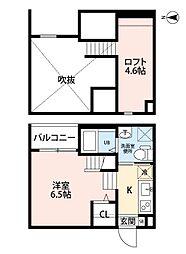 愛知県名古屋市天白区原3丁目の賃貸アパートの間取り