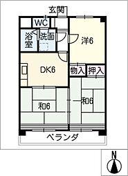 一本木マンション[3階]の間取り