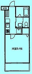 コンフォート植村[3階]の間取り
