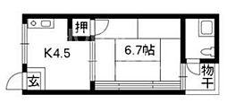 フローレンス北白川(旧林荘)[102号室号室]の間取り