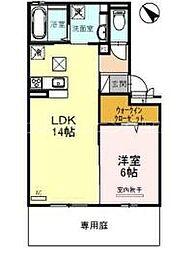 JR山陽本線 新井口駅 徒歩17分の賃貸アパート 1階1LDKの間取り