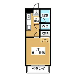 コーポラス清京[2階]の間取り