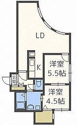 北海道札幌市北区北三十条西6丁目の賃貸マンションの間取り