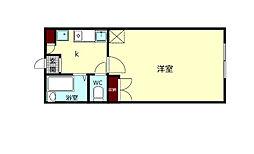 JR関西本線 大和小泉駅 徒歩5分の賃貸アパート 3階1Kの間取り
