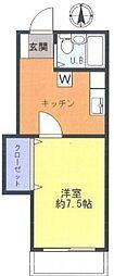 メゾンモナミ[1階]の間取り