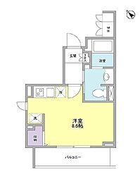 JR山手線 大塚駅 徒歩6分の賃貸マンション 5階ワンルームの間取り
