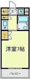 リエス天王寺東[3階]の間取り