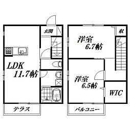 [テラスハウス] 静岡県浜松市東区有玉南町 の賃貸【/】の間取り