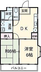 愛知県碧南市二本木町5丁目の賃貸アパートの間取り
