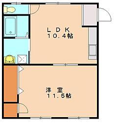 レジデンスニーベ[1階]の間取り