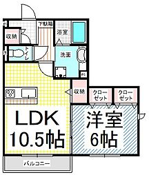 長野県長野市吉田5丁目の賃貸アパートの間取り