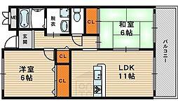 レーゼンハイム[3階]の間取り