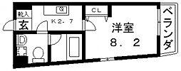 オランジュ上小阪[209号室号室]の間取り
