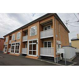 北海道江別市牧場町の賃貸アパートの外観