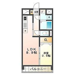 シンフォニー半田[6階]の間取り