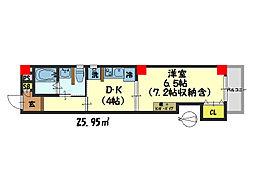 仮)西院平町新築マンション[503号室]の間取り