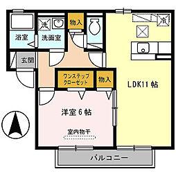 アムール B棟[2階]の間取り
