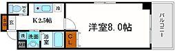 オーシャン難波南[11階]の間取り