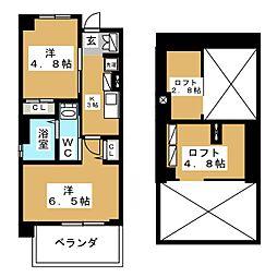 エステムコート名古屋駅前CORE[3階]の間取り