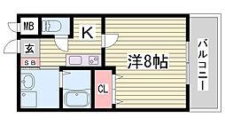 クレアドル須磨II[3階]の間取り