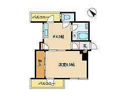 東京都港区赤坂8丁目の賃貸マンションの間取り