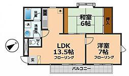 東京都杉並区久我山5丁目の賃貸マンションの間取り