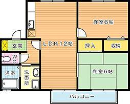 コゥジィコート B棟[2階]の間取り