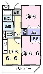 アヴェニュー K[0101号室]の間取り