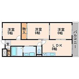 武庫之荘クラウンハイツ[4階]の間取り