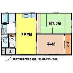 [一戸建] 長野県伊那市上の原 の賃貸【/】の間取り