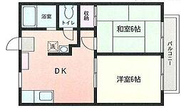 神奈川県横浜市港北区新吉田東3丁目の賃貸アパートの間取り