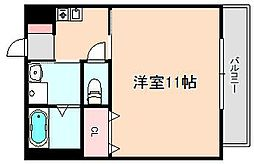 アジュール豊中本町[3階]の間取り