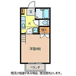 長野県長野市大字稲葉中千田の賃貸アパートの間取り