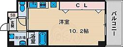 大阪モノレール本線 山田駅 徒歩10分の賃貸マンション 5階ワンルームの間取り