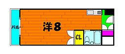 南海高野線 大阪狭山市駅 徒歩4分の賃貸マンション 1階1Kの間取り