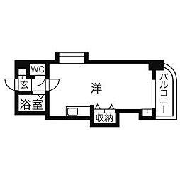 ネスト大通16[11階]の間取り