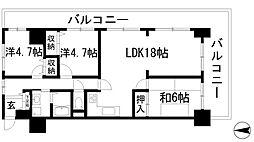 兵庫県川西市久代6丁目の賃貸マンションの間取り