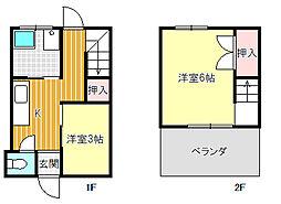中村アパート[2-2号室]の間取り