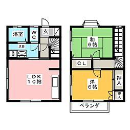 [テラスハウス] 静岡県浜松市東区中野町 の賃貸【/】の間取り