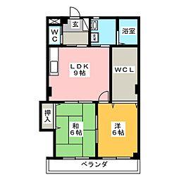 ホワイトウイングII[1階]の間取り