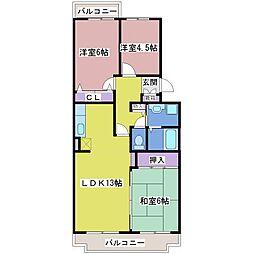 マッティーナ神戸弐番館[4階]の間取り