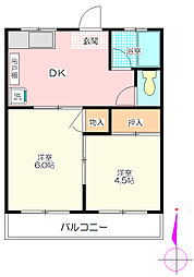 岡村マンション[3階]の間取り