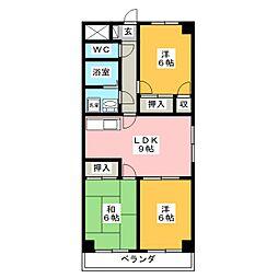 ダイアローグ3[1階]の間取り