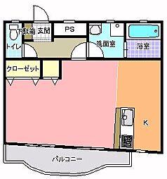 コーキマンション K−3[403号室]の間取り