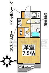 愛知県名古屋市千種区堀割町2丁目の賃貸マンションの間取り